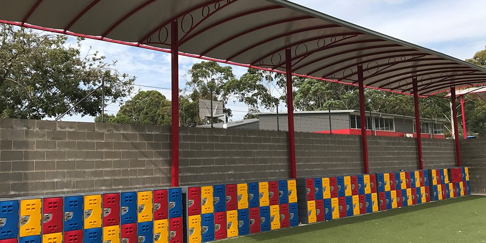 Sports Field with Lockers