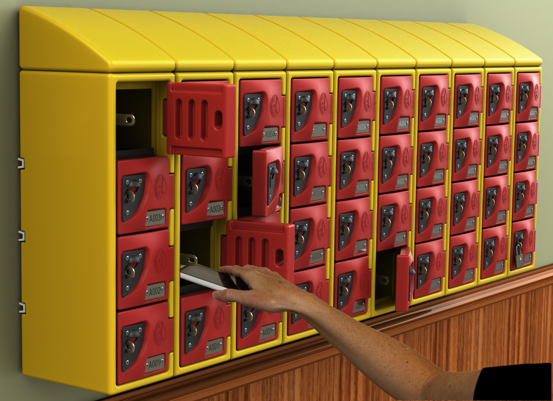 Cell Locker Wall With Hand